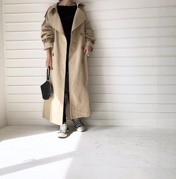 fearless balloon long trench coat