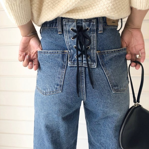 bippy lace-up denim