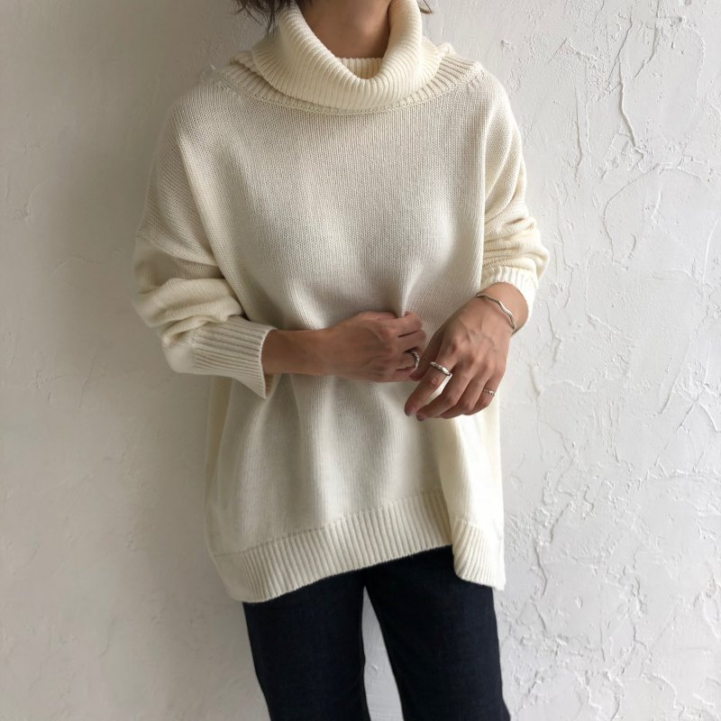 wide turtle over knit