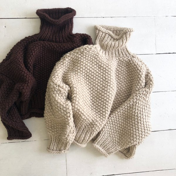 handmade middle turtle S/knit