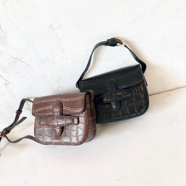 croco chubby waist 3way BAG
