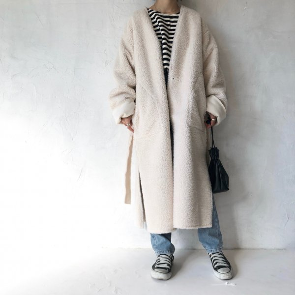 reversible boa mouton coat