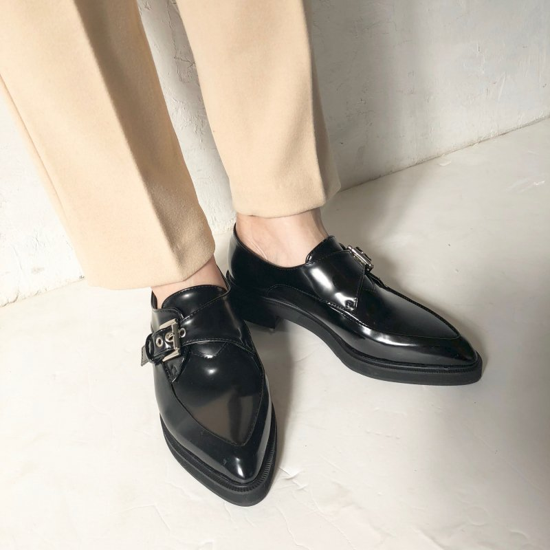 belt gentry oxford shoes