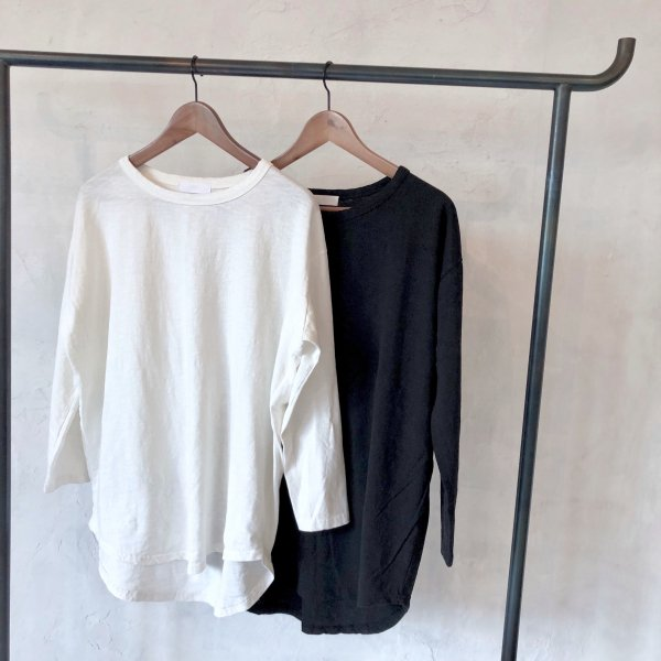 wide neck over long Tshirt