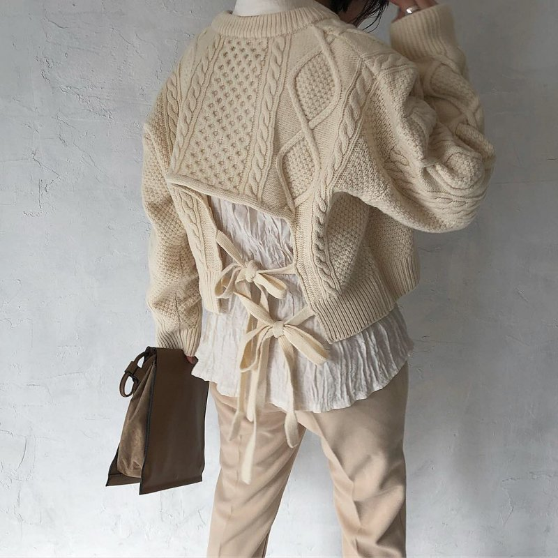 3way hind cashmere cable S/knit
