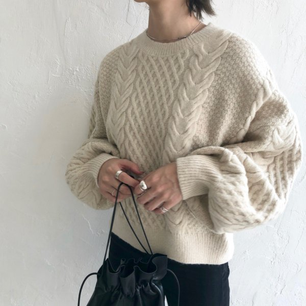 lengthy soft volume knit