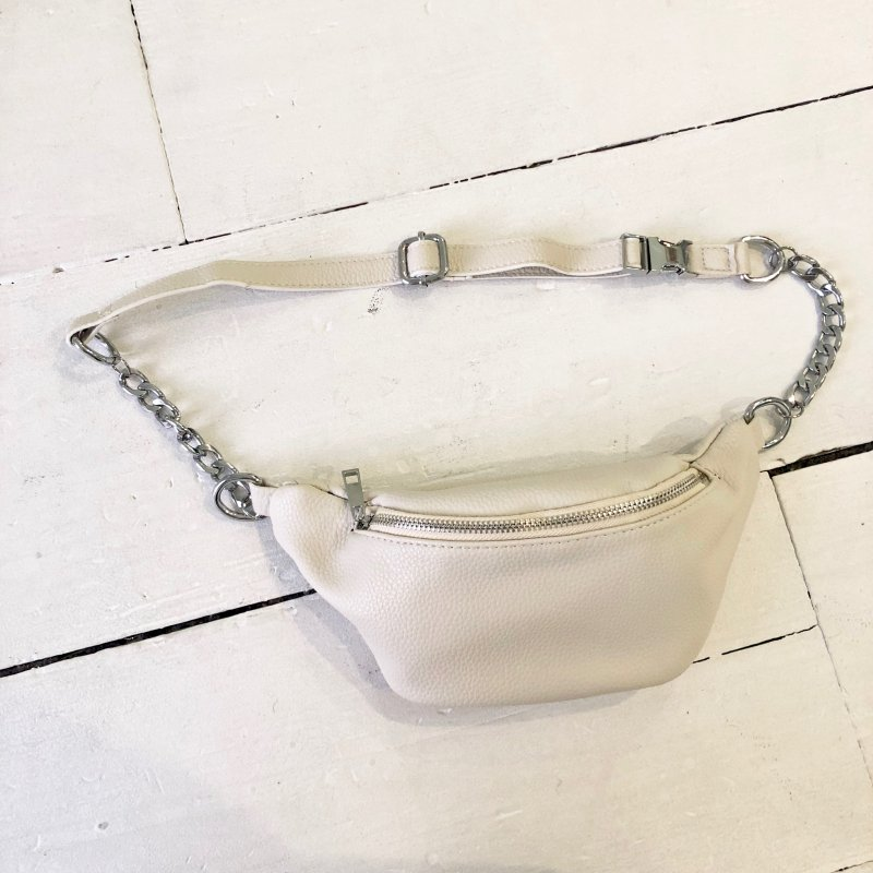chain combi leather waist BAG