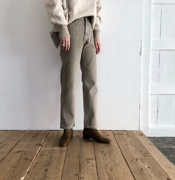 dull tone denim