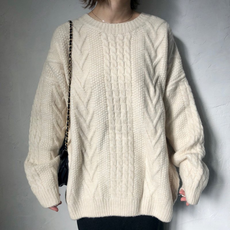 footprint cable wide knit