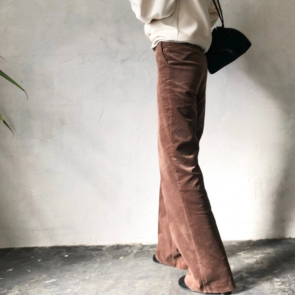 styling wide velvet pants