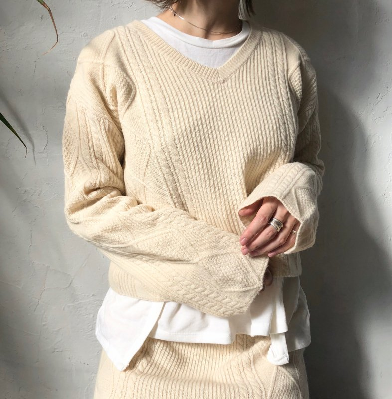 side cable knit SET UP
