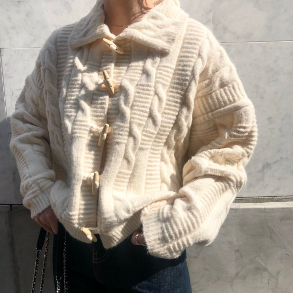 polo toggle cable knit CD