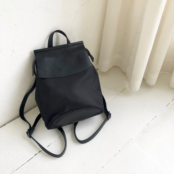 precisely leather cover backpack
