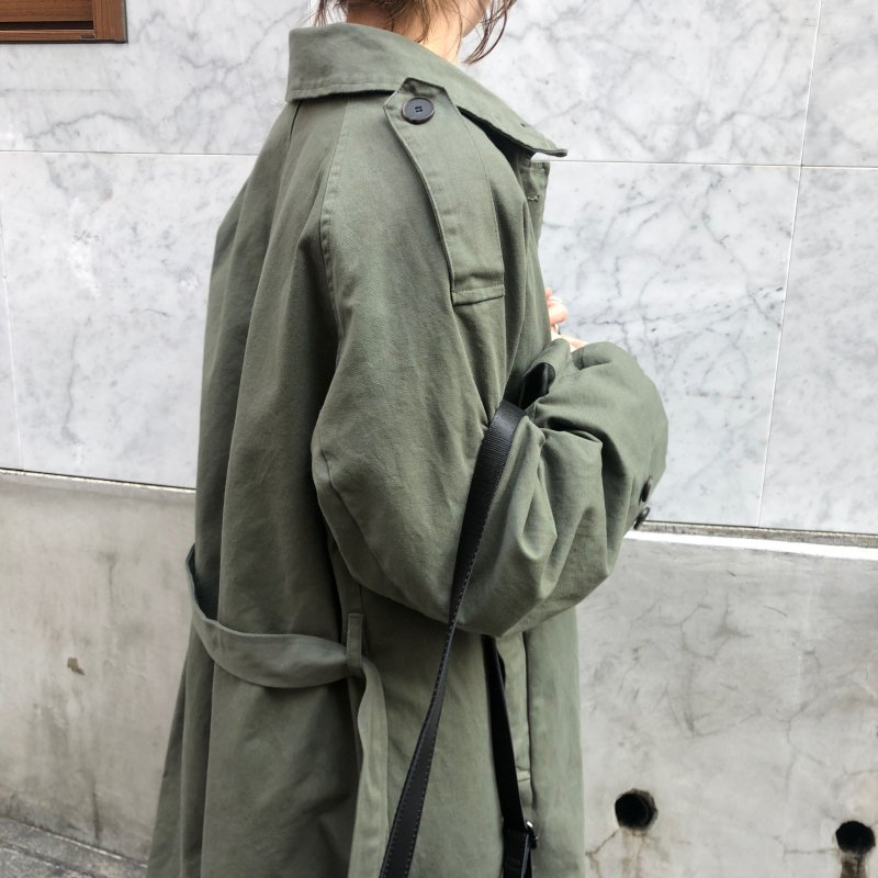 with a crash military coat
