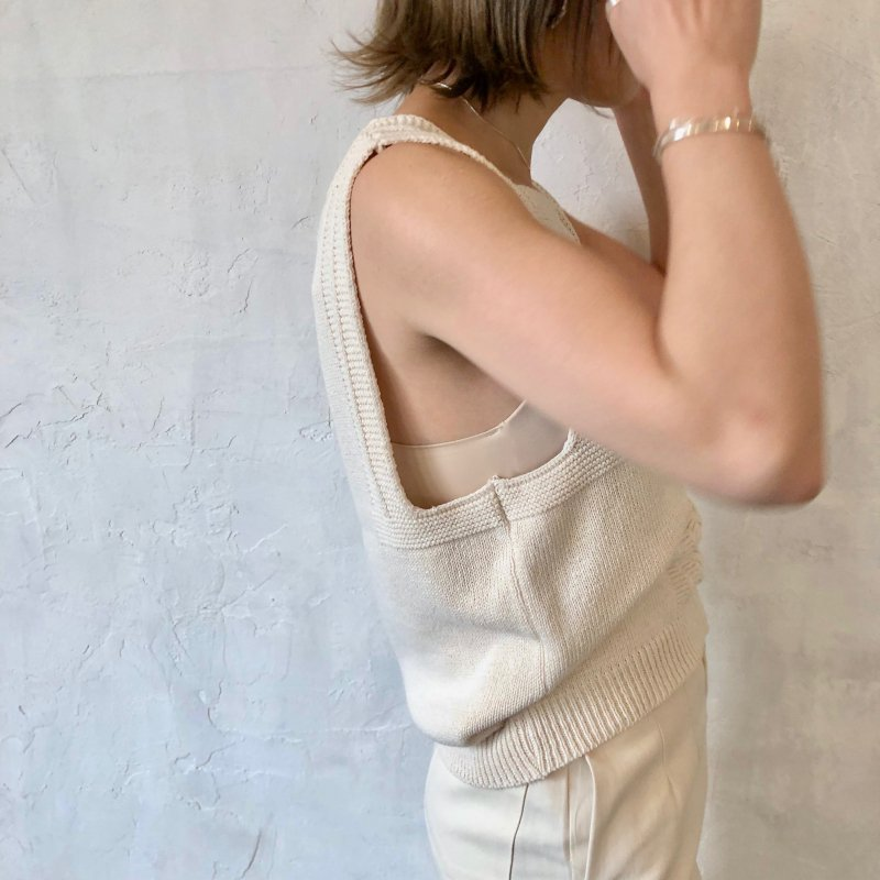 be blocked square knit tank