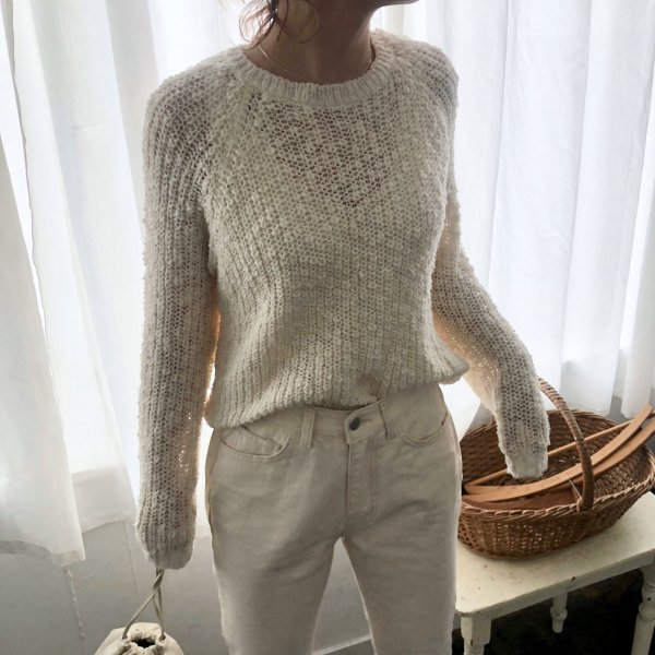 bubble hollow spring knit