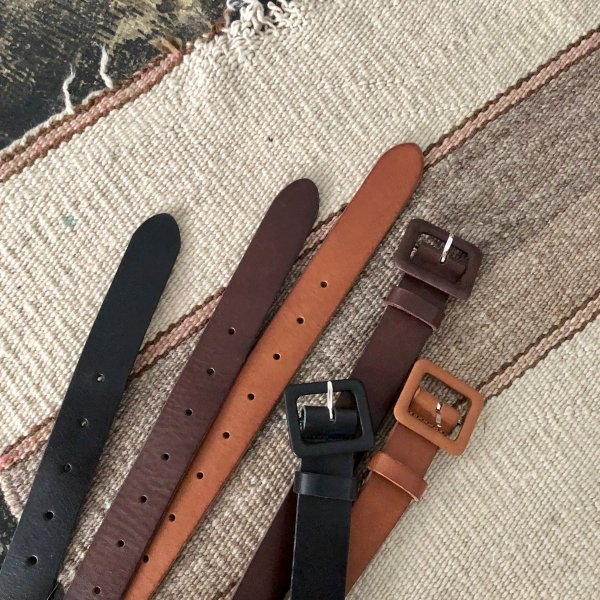 square cover leather belt