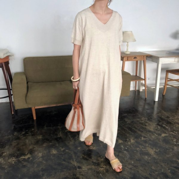 half arm summer linen knit OP