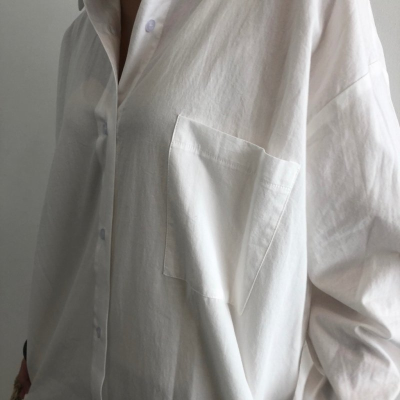 longer standard cotton shirt OP