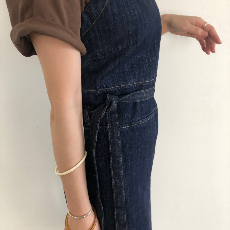 square shoulder denim L/OP