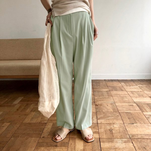 georgette centre press tuck pants