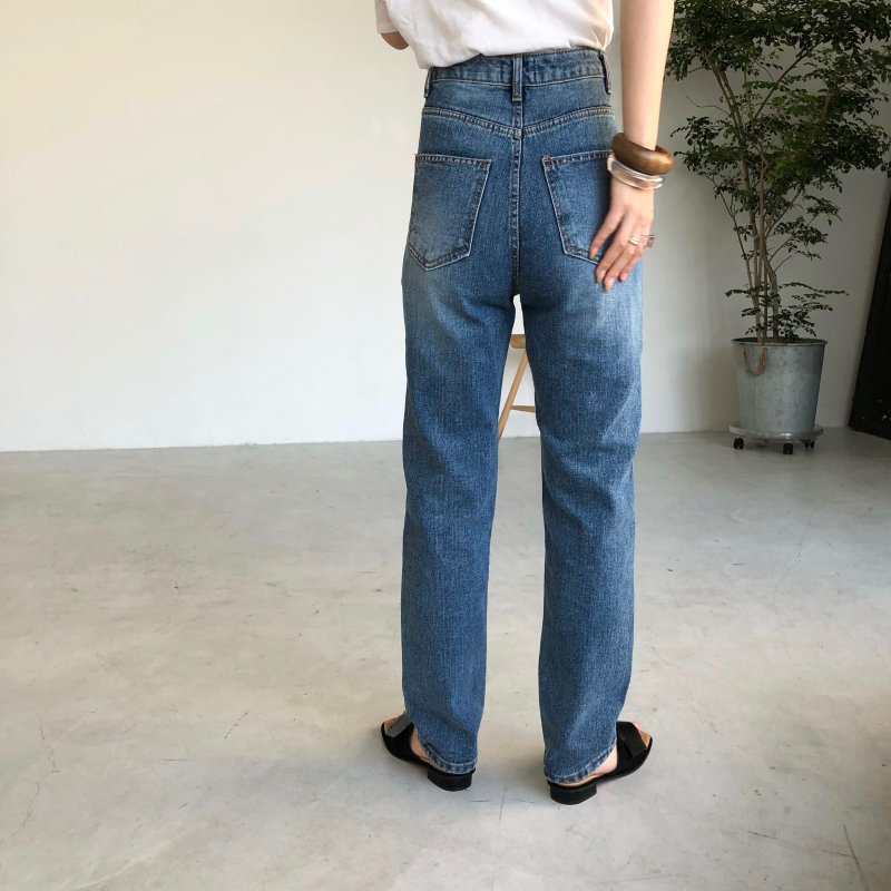 new version up high-waist denim