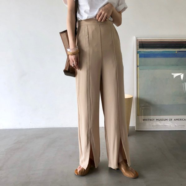 center slit grade pants