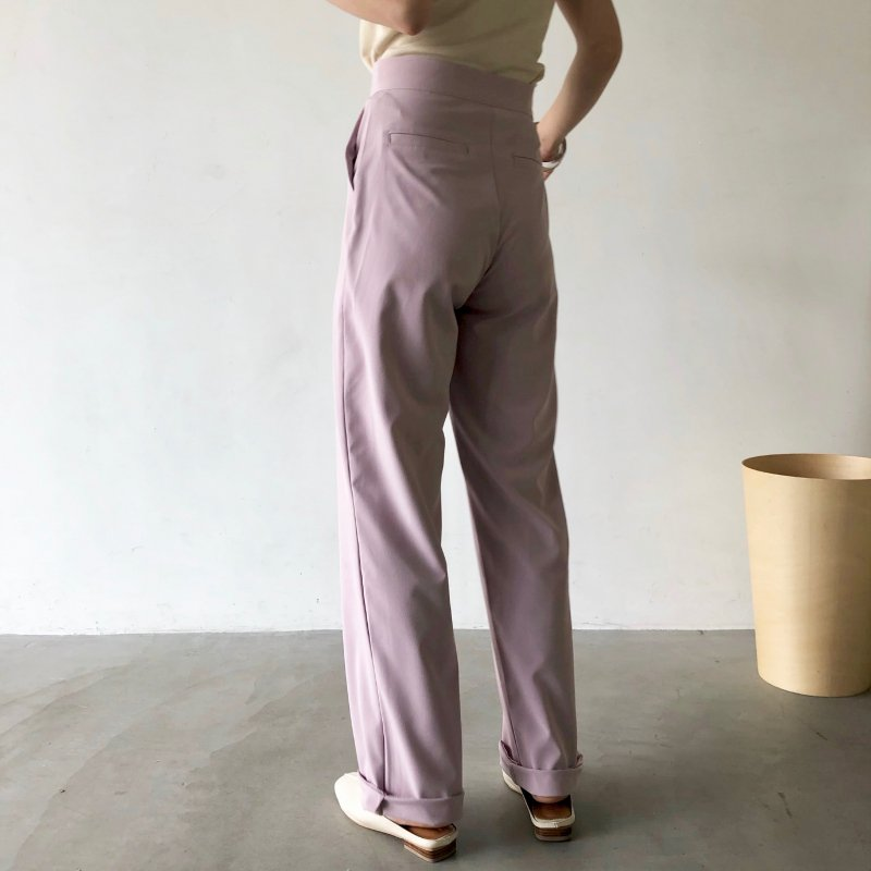 powdely tuck georgette pants