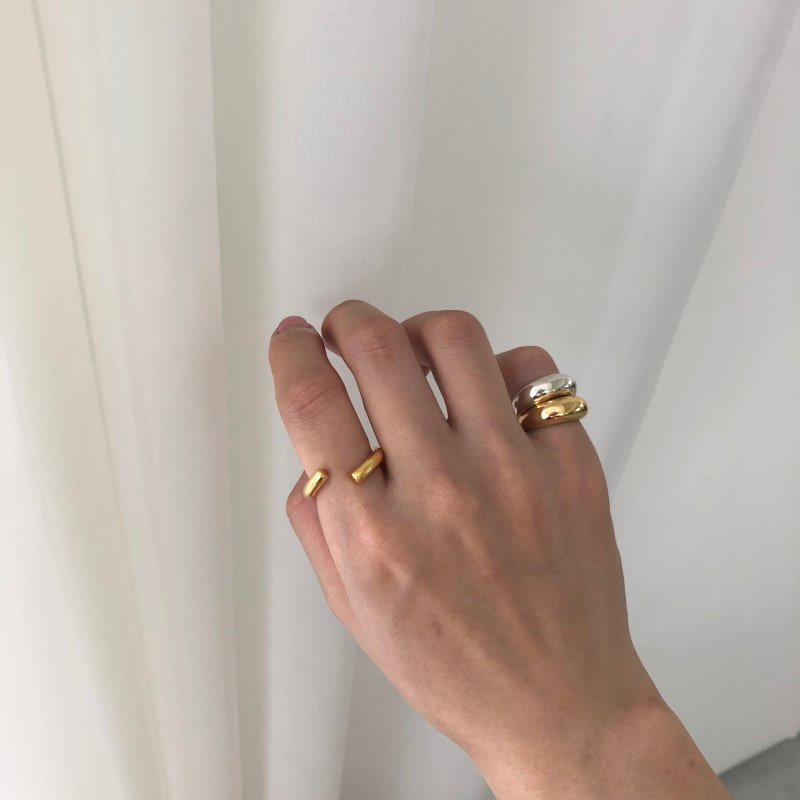 swell curve pinkie ring