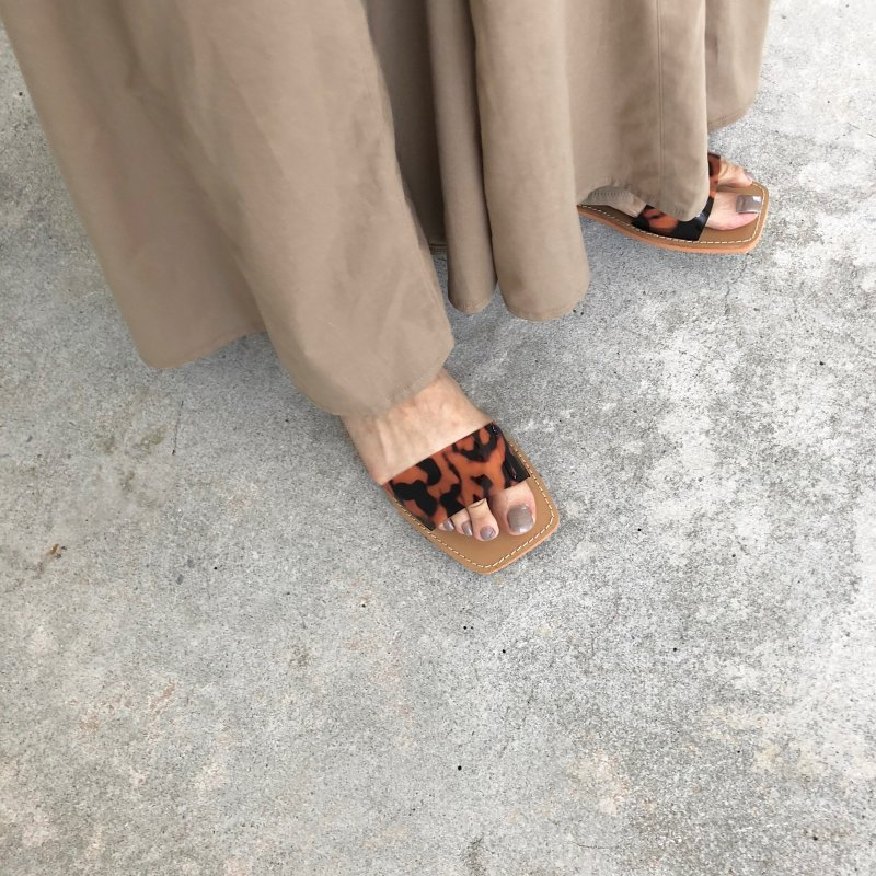 summer material mix sandal
