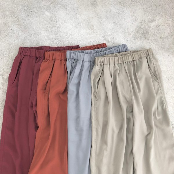 relax twill color pants