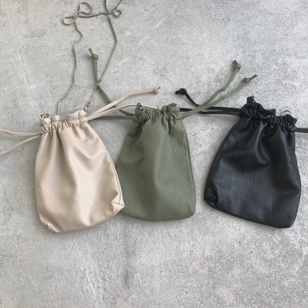 minimum leather purse pochette