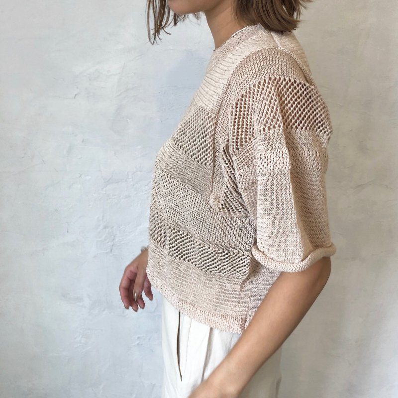 border crochet T-Knit