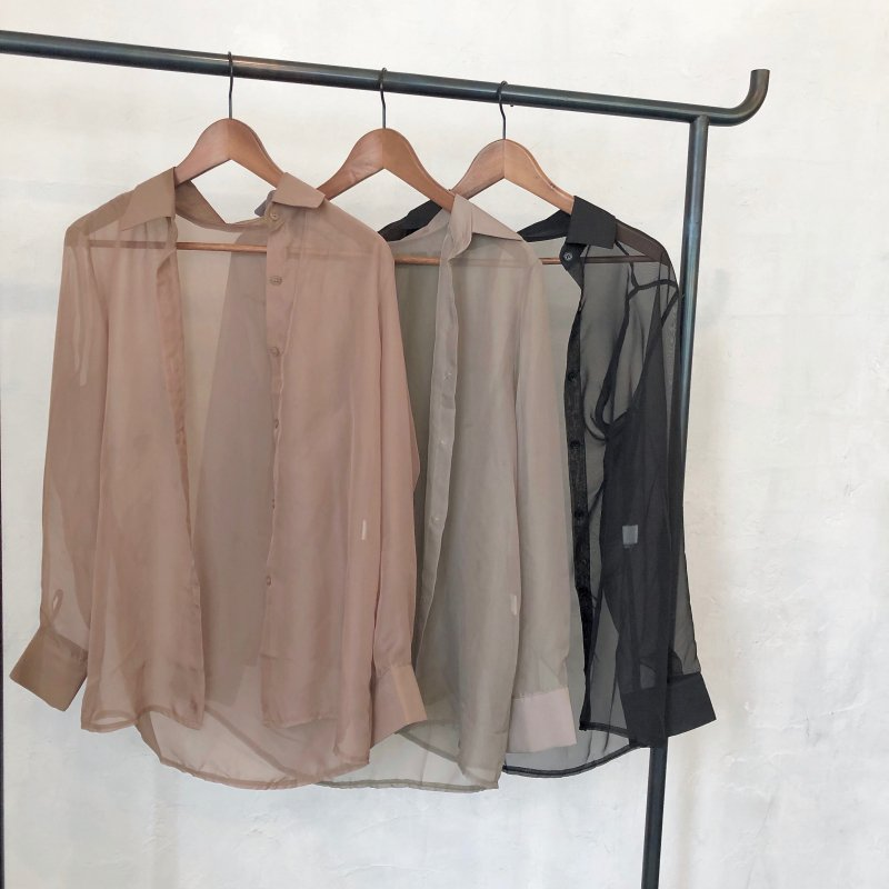 silk sheer color shirt