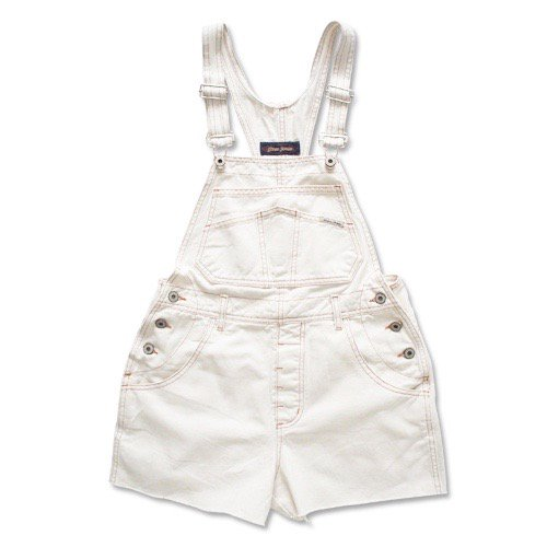 white denim salopette