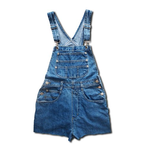 hook shoulder denim overall