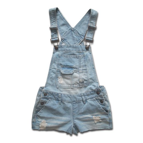 short denim salopette