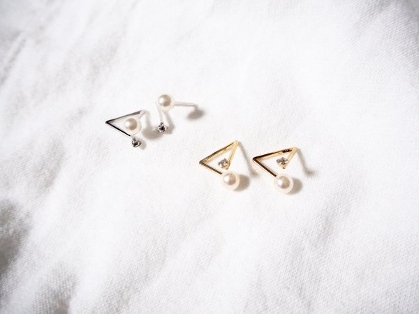 pearl triangle ear cuff