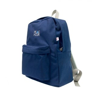 'PE▲K HOUR' Nylon Cordura-Backpack[NAVY×GRAY]