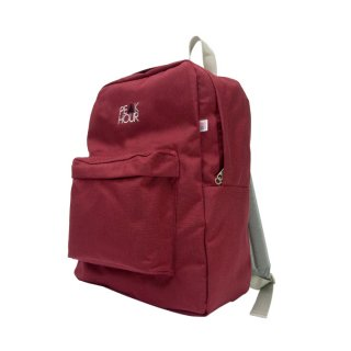 'PE▲K HOUR' Nylon Cordura-Backpack[BURGUNDY×GRAY]