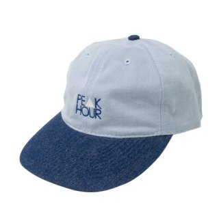 'PE▲K HOUR' Low Cap / Denim Visor [LIGHT BLUE×INDIGO BLUE DENIM]