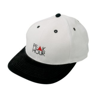 'PE▲K HOUR' Low Cap / Suede Visor [WHITE×BLACK]