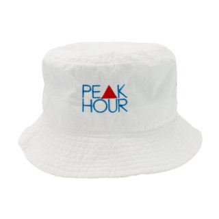<img class='new_mark_img1' src='//img.shop-pro.jp/img/new/icons22.gif' style='border:none;display:inline;margin:0px;padding:0px;width:auto;' />'PE▲K HOUR' Polyester Bucket Hat [WHITE]
