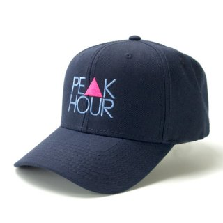 <img class='new_mark_img1' src='//img.shop-pro.jp/img/new/icons5.gif' style='border:none;display:inline;margin:0px;padding:0px;width:auto;' />'PE▲K HOUR' Curve Visor Snapback Cap [NAVY]