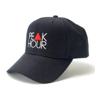 'PE▲K HOUR' Curve Visor Snapback Cap [BLACK]
