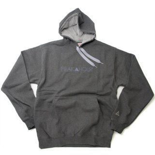<一点物> 'PEAK▲HOUR' 2Tone-Pull Parka 10oz [CHARCOAL GRAY×HEATHER GRAY]