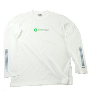 'peak hour - beats/neon green' Long Sleeve T-Shirts [WHITE]