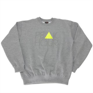 'PE▲K HOUR' Reflector-Sweat [HEATHER GRAY]