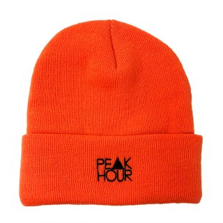 'PE▲K HOUR' Beanie Cap [NEON ORANGE]