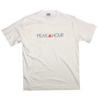 'PEAK▲HOUR' Pigment Dye T-Shirt [NATURAL WHITE]